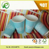 China supplier high quality restaurant disposable paper cups with logo printed