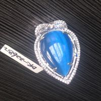cat's eye pendant with micro-setting CZ pendant