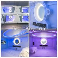 prefabricated bedroom furniture capsule space bed for hostel, Youth club , police quarters