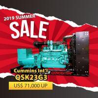 2019 Sale! Cummins International QSK23G3 Diesel Generator Set Open Type Genset, Prime 648kW, 50HZ; Prime 727kW, 60HZ