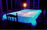 glow in the dark/ photoluminescent/ luminescent /self luminous textile