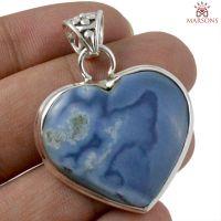 Owyhee Opal Gemstone Silver Pendant