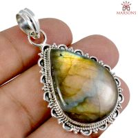 Labradorite Gemstone Silver Pendant