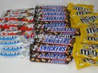 Nutella Ferrero 630 Grams, Mars, Bounty, Snickers, Kit Kat, Twix
