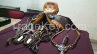 complete saddle set with horse accessories (with carrier bag)