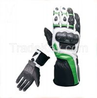 RACING MOTORBIKE LEATHER GLOVES