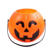 Pumpkin Lantern Candy Holders Carry Goodies Bucket Storage Halloween Supplies Treat or Trick Xmas New Year Decorations