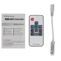 Mini Wireless RGB LED RF Remote Controller for 5050 3528 SMD Strip Lights DC 5-24V