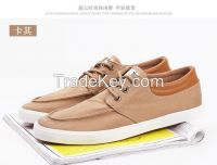 LEYO 2016 spring men shoes canvas and PU casual shoes classic lace-up sneaker