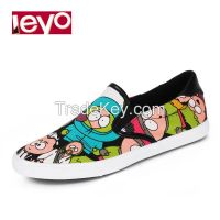 LEYO summer man shoes navy, black, canton print, pu piping casual shoes classic slip-on sneaker