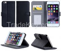 Heat Setting Shock Proof Flip Second Leather Phone Case For Iphone 6 plus 5.5