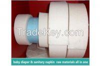 Sanitary Napkin Raw Materials Fluff Pulp Absorbent Paper