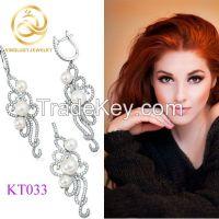 Stylish Design Full Zircon 925 Silver Fahion Bridal Jewelry Sets
