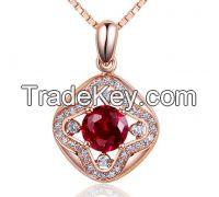 Main stone crystal cz setting silver pendant