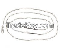 Fashion sterling silver box chain, simple chain for pendant