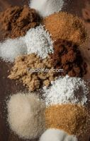 Granulated, Caster, Confectioners, Pearl, Sanding, Cane, Demerara, Muscovado, Light and Dark Brown Sugars Available