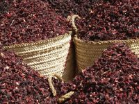Red Color dried hibiscus flowers