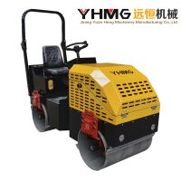 Full Hydraulic 1.5 Tons Double Drum Compactor Vibratory Machine Road Roller