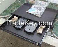 fiber optic termination box Rail wall mounted fiber optic patch panel