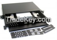 "1u 19"" Rack Mount Optical Fiber Patch Panel for Sc/FC/LC"