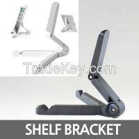 portable fold-up stand, shelf bracket, iPad jack braces, iPad holder, triangle holder