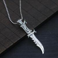 Men's Sterling Silver Dagger Pendant