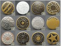 Customized design uniform button metal logo button company logo brass material