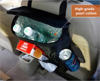 Multi-use car back seat organizer