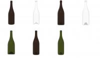glass wine bottles Burgandy