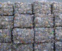 PET scrap bottles in bales