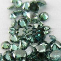 genuine natural blue color round shape loose diamonds for fine jewelery