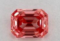 3.68 ct. emerald shape loose natural diamond pink if IF gia