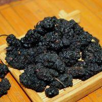 vDried organic black mulberries