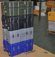 Reliable high quality plastic military transport cases /rod case supplier