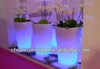 Roto Moulded LED Flower Pot, Planter Pot OEM