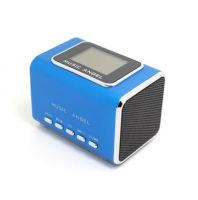 Md05X Music Angel Speakerportable Digital Mini Speaker Sound Box FM Radio LCD Screen Support USB TF/Micro SD Card, Travel Stereo Speaker for iPhone iPad iPod MP3 Player