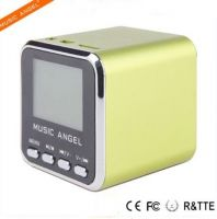 Music Angel New Design FM LCD Screen Fashion Professional with FM Radio MP3 Player Mini Portable Digital Loudspeaker Sports Outdoor Speaker
