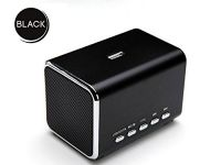 MD05B Sports Active Portable Mini Speaker Loudspeaker FM Radio Computer Speakers TF Card/USB Flash MP4 Speaker Black