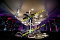 Sell event rental acrylic LED lighted table decoration centerpiece