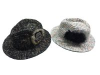 WOMEN knitted fedora hat