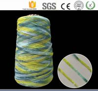 100% Cotton 1/3.5NM Yellow Chenille yarn/wholesale fancy raw yarn