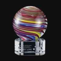 Fashion Hand Blown Glass Trophy for Home Decor