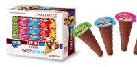 ice cream chocolate biscuit