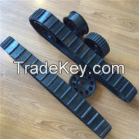 Small Rubber Track for Robot 80mm Width, 2400mm Length