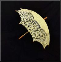 Handmade Western Style Lace Sun Umbrella  Light Yellow