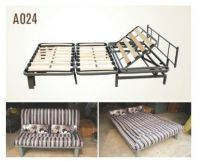 Hot sell wood slatted foldable bed base frame A024