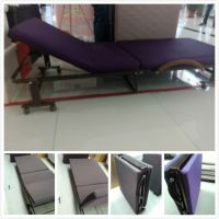 Latest modern design portable single folding metal bed with mattress for hotel or hospital A060