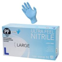 Ultra Feel Blue Nitrile Powder Free Disposable Exam Glove