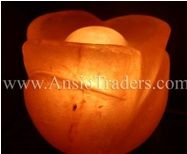 """Fancy Rose Shape Salt Lamp - 6""""x5"""""""