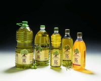 Empty extra virgin olive oil bottles